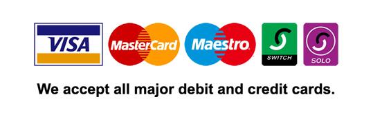 creditc cards acceptec